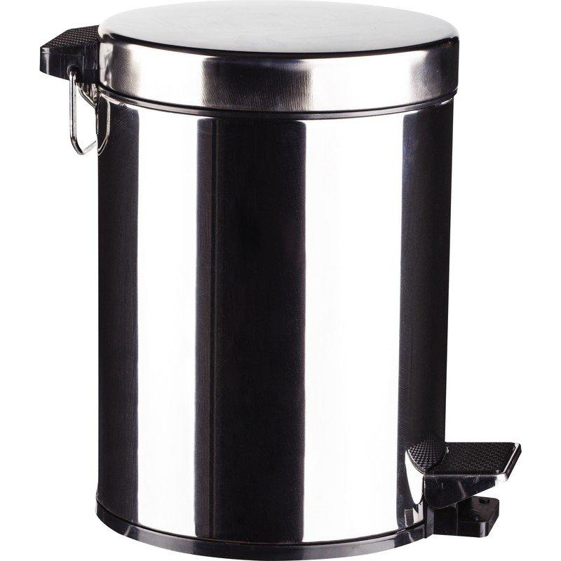Ведро мусорное 5 л с педалью и внутренним контейнером нержавеющая сталь