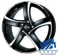 Диски Alutec Shark 7.5x17 5/114.3 ET38 d70.1 racing black polished - фото 1