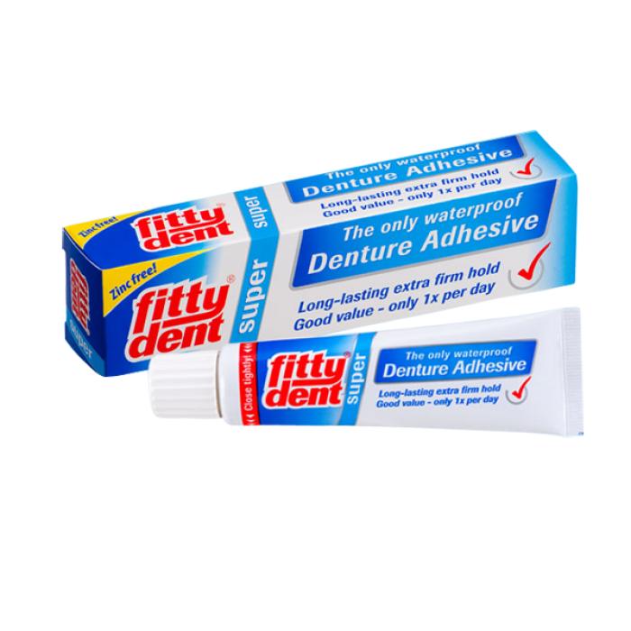 Fittydent super фиксирующий крем для супер фиксации съемных зубных протезов 40 г Fittydent super