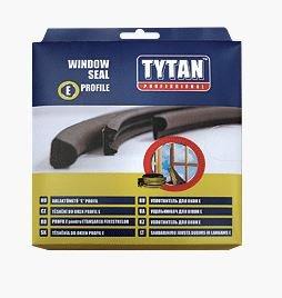 Уплотнитель E-профиль 9х4мм чер 1п.м.(2 полосы) TYTAN 91515