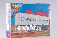 7035AVD AVD Models 1/43 Полуприцеп-контейнеровоз МАЗ-938920