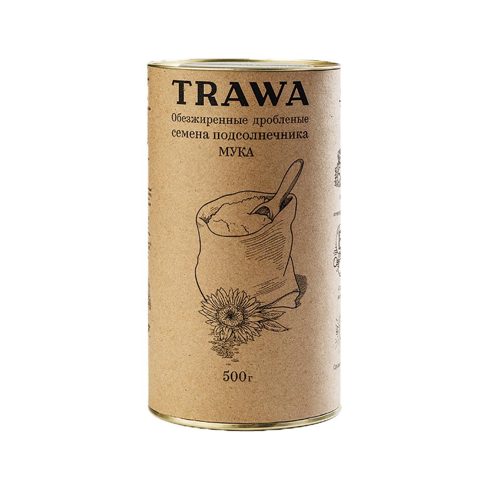 Мука из обезжиренных семян подсолнечника, 500 мл - Trawa