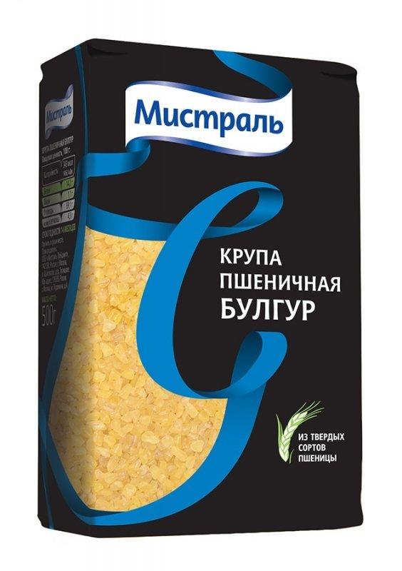 Крупа МИСТРАЛЬ пшеничная из твердых сортов пшеницы Булгур, 500 г