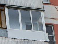 """Остекление лоджии до середины окна """"Совмещённый"""""""