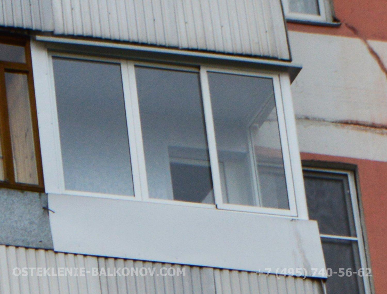 Остекление лоджии до середины окна