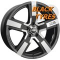 Диск колесный OZ Versilia 8x18/5x112 D75 ET48 Matt black diamond cut - фото 1