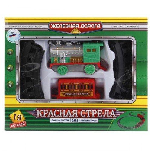Железная дорога играем вместе красная стрела на бат. свет+звук 26*20*5см (играем вместе b1556066-r)