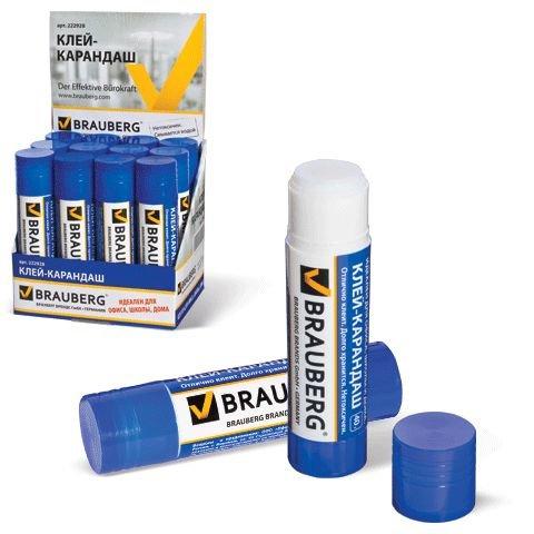 Клей карандаш 40гр Brauberg 222928 (00186)