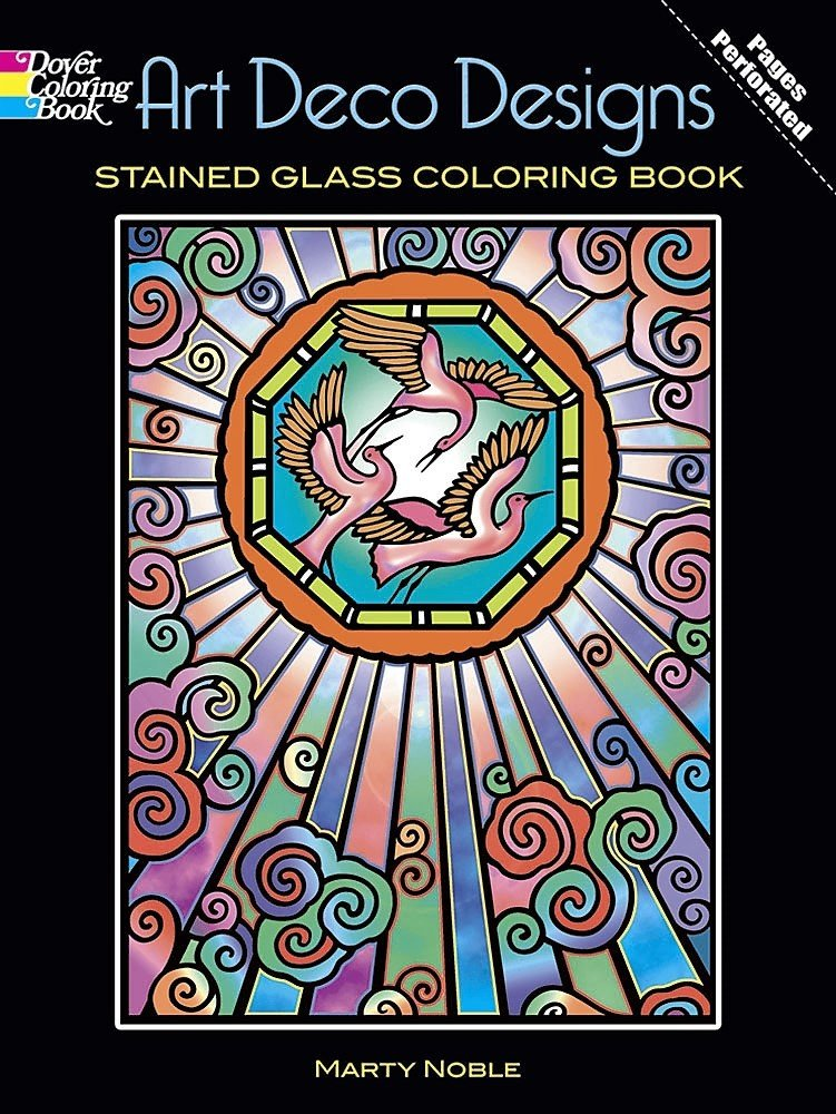 All about Tiffany Designs Stained Glass Coloring Book Dover Design ...