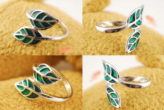 Эльфийский лист - кольцо Размер 18 (d18,4мм) окруж.56,0мм