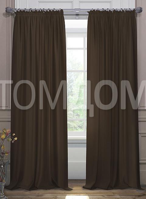 Комплект штор ТомДом Элести (венге)