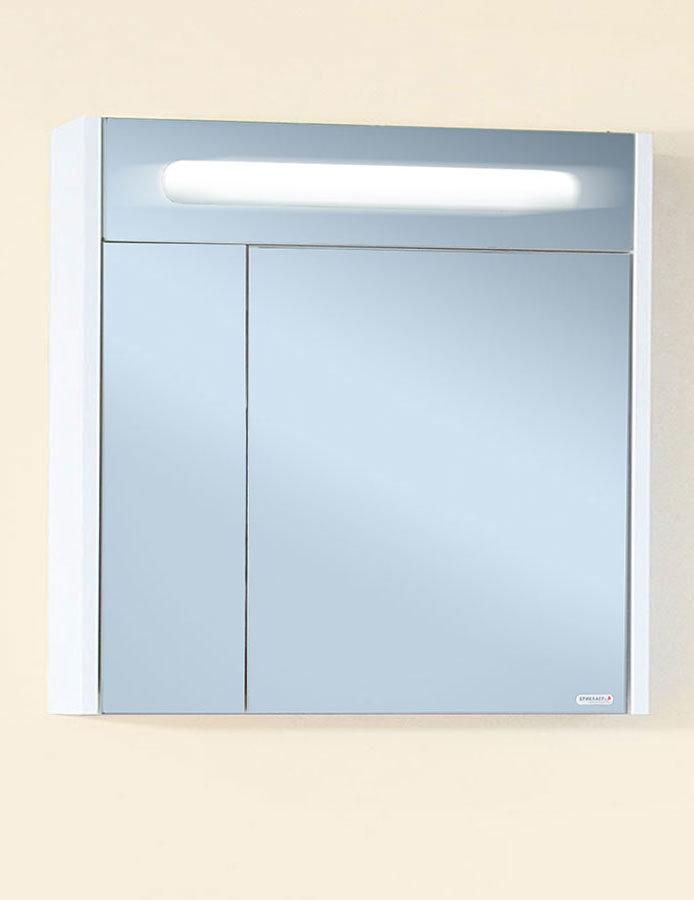 Зеркало Палермо 74 белый глянец Бриклаер