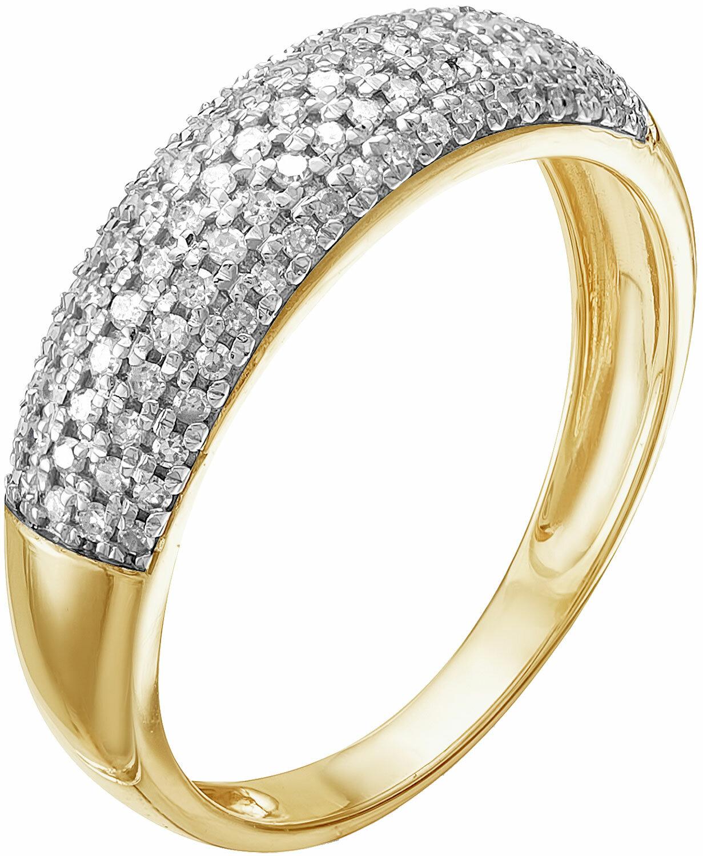 Золотое кольцо Vesna jewelry 1067-351-01-00 с бриллиантами, размер 17,5 мм