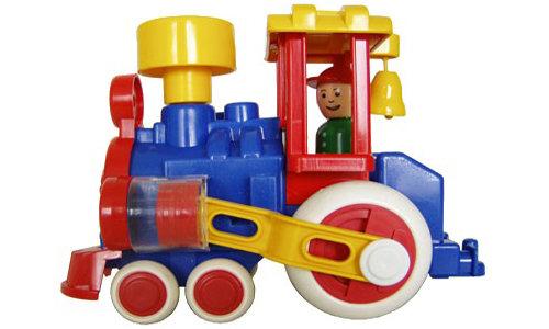 """Паровозик """"Ромашка"""" игрушечный для малыша ПК """"Форма"""" С-117-Ф"""