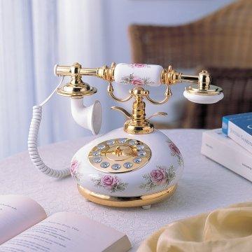 Ретро-телефон фарфоровый Rose H-HT9006A