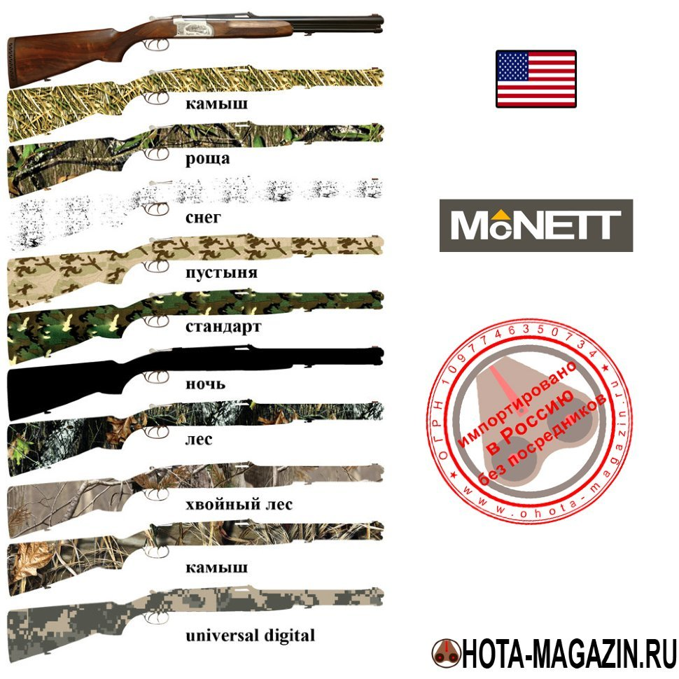 Камуфляжная лента McNETT Camo Form
