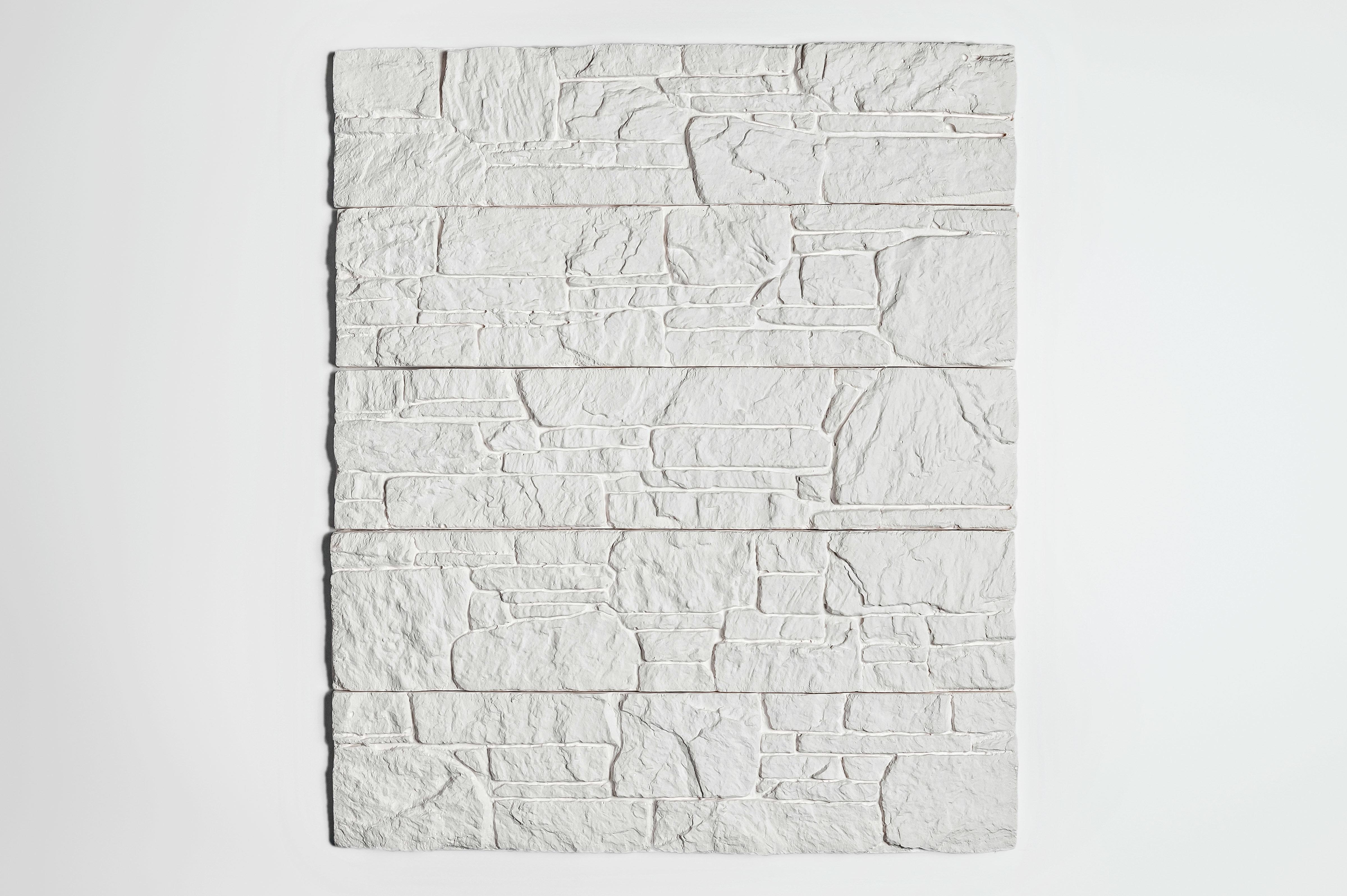 Гипсовая плитка Евролит Камень Аппалачи белый (1 м2)