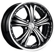 Racing Wheels H-460 7x17 5x114.3 ET 40 Dia 67.1 BK F/P - фото 1