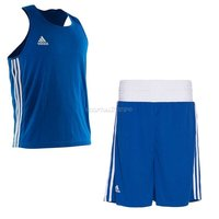 Комплект боксёрской формы Adidas Boxing Top Punch Line - синий