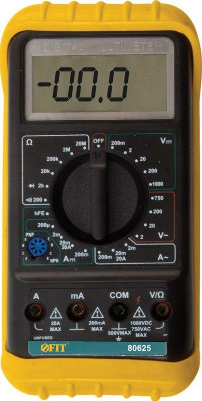 Мультиметр FIT DMM8904, измерение тока, напряжения пост./пер. тока, сопротивления, мягкий протектор с подставкой