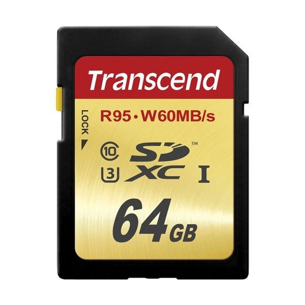 Карта памяти Transcend SDXC 64GB Class 10 UHS-I U3 90/65MB/s, TS64GSDU3