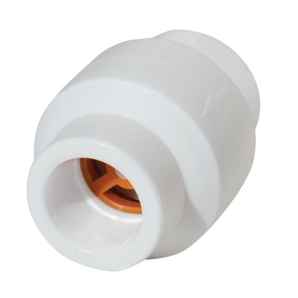 Клапан обратный KALDE - 25 (для полипропиленовых труб под пайку, цвет белый) 3222-cvl-0c0000