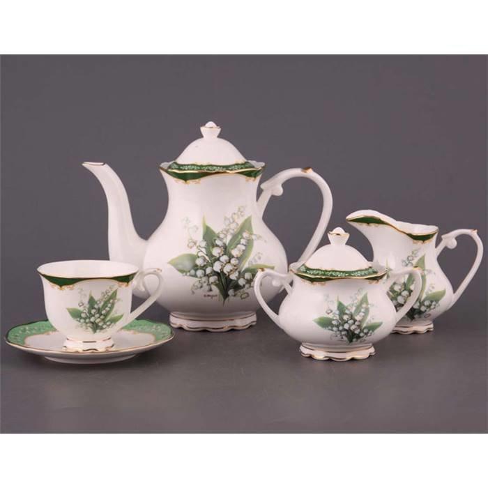 "Чайный сервиз Lefard 264-300 чайный сервиз ""ландыш"" на 6 персон 15 пр. 1200/200 мл. фарфор"