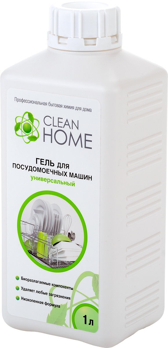 Порошок для ПММ Clean home Cleanhome гель д/посудомоечн.маш унив. 1000 мл 408