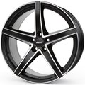 Колесные литые диски Alutec RAPTR 8x18 5x108 ET27 D65.1 Racing Black Front Polished (RR80827P63-5) - фото 1