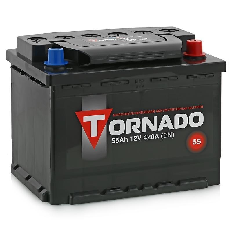 Аккумулятор TORNADO 6 СТ-55 АЗR о/п.