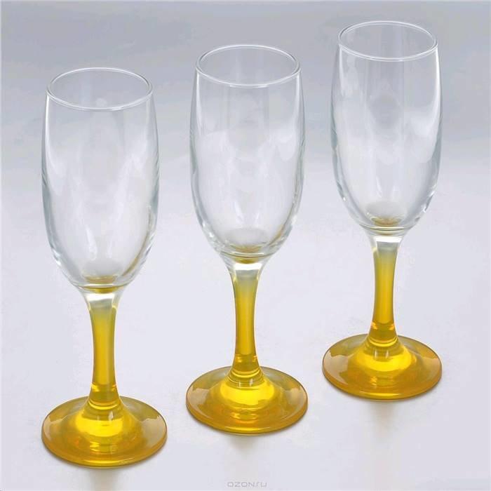 П-Да/Сервир Pasabahce 44419y/ Набор Фужеров Glass4you 3 Шт.190 Мл Желтый