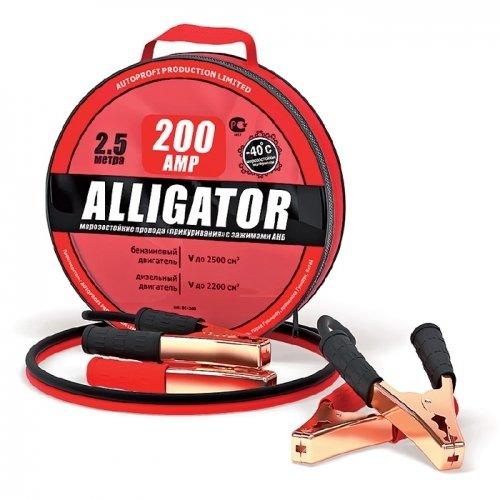 Провода прикуривания AUTOPROFI Аллигатор 200 А, длина 2,5 м., брезентовая сумка