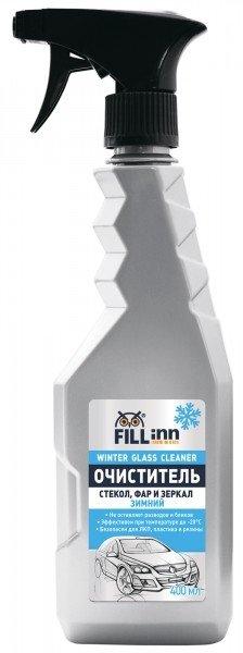 Очиститель стекол, фар и зеркал зимний FILL INN FL049 400 мл (спрей)