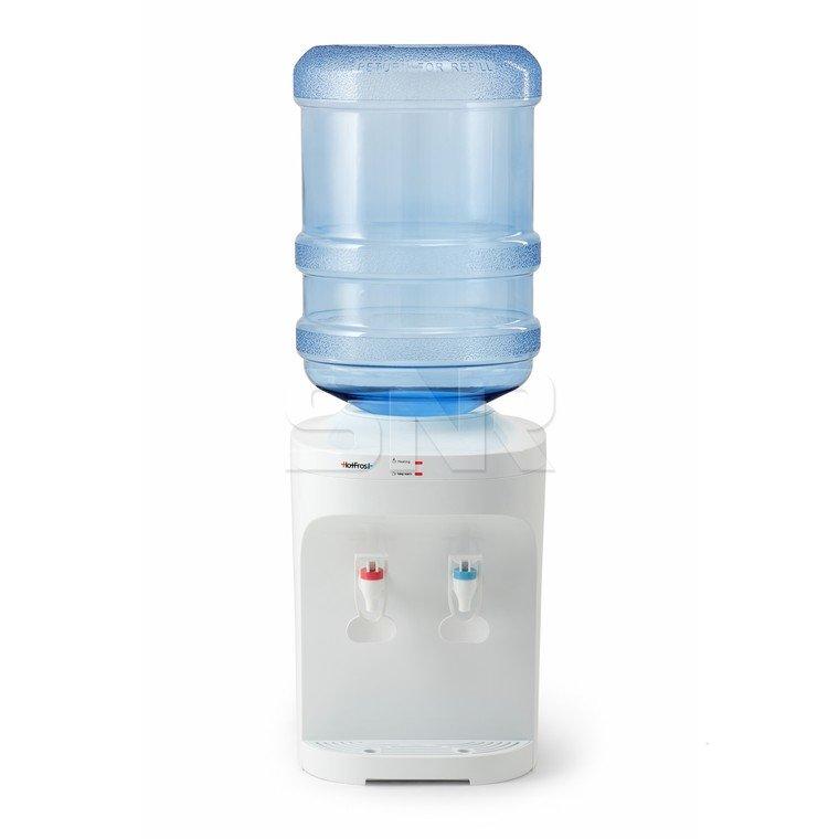 Кулер для воды HotFrost D120F, настольный, нагрев/без охлаждения, 2 крана, белый, 110312002