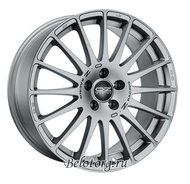 Диск OZ Racing Superturismo GT 8x17/5x120 ET40 D72.6 Racing Silver + Grey Letters - фото 1