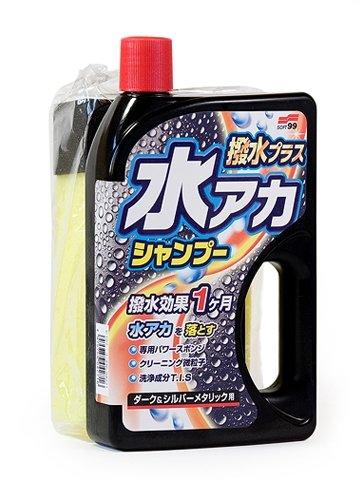 Автошампунь защитный SOFT99 Super Cleaning Shampoo + Wax для темных цветов кузова, 750 мл