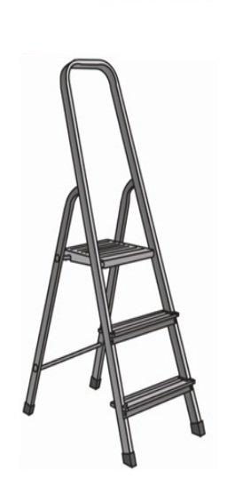 Лестница-Стремянка TDM СК3 комбинированная (сталь-алюминий, 3-ступени, 0,57м) (1)