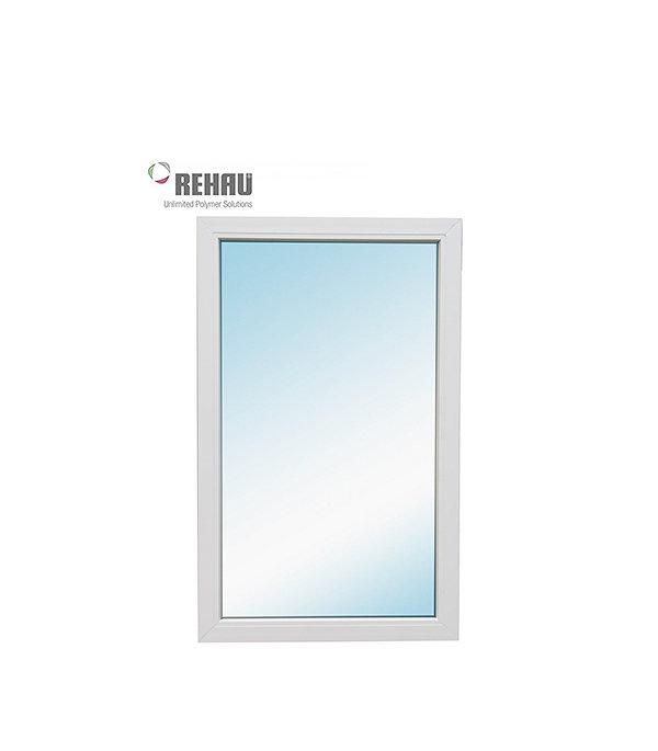 Окно металлопластиковое REHAU 1000х600 мм белое глухое