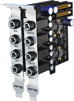 RME AI4S-192-AIO - 4 канальная карта расширения аналоговых входов, 24 Bit / 192 kHz для HDSPe AIO и HDSP 9632