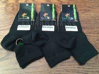 Носки женские из бамбука черные 5 пар, размер 38-41 (25)