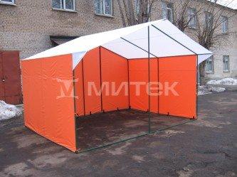 """Палатка торговая """"Домик"""" 4х3 (каркас из квадратной трубы 20х20 мм) ПВХ"""