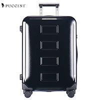 Чемодан пластиковый на 4-х колесах Puccini Vancouver PC022A-1 черный 76 см