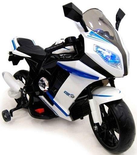 Детский электромотоцикл MOTO M111MM, бело черный