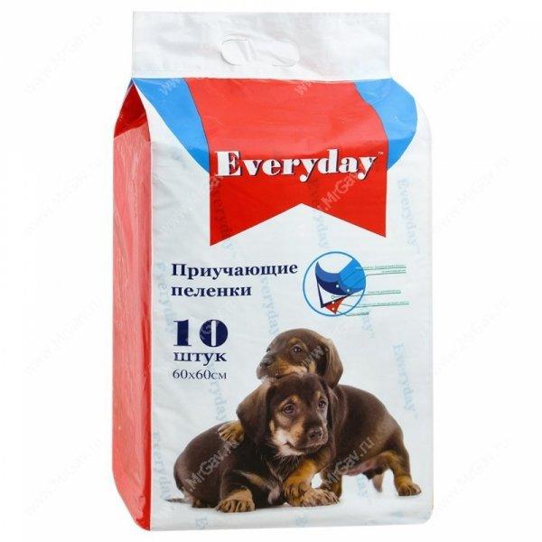 Пеленки для собак гелевые Everyday, 60 см*60 см, 10 шт.