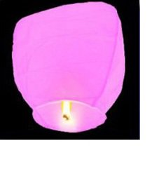 Фонарь желаний бумажный, розовый