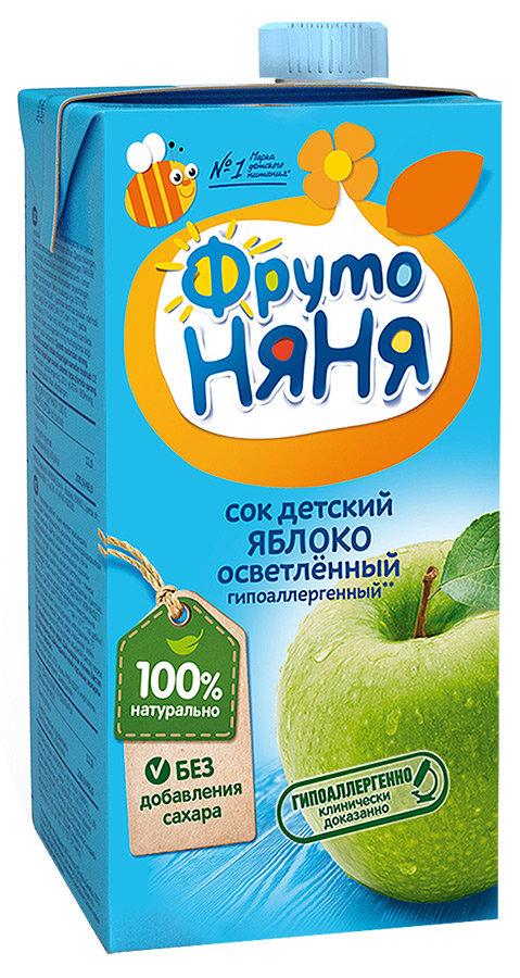 Сок ФрутоНяня из яблок осветленный, c 3 лет