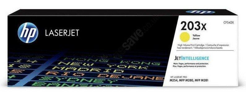 CF542X (203X) оригинальный картридж HP для принтера HP Color LaserJet Pro M254/ M280/ M281 жёлтый, 2500 страниц