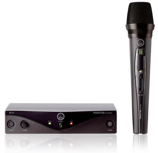 AKG Perception Wireless 45 Vocal Set BD A (530-560): радиосистема с ручным передатчиком с капсюлем D88, 4-8 каналов
