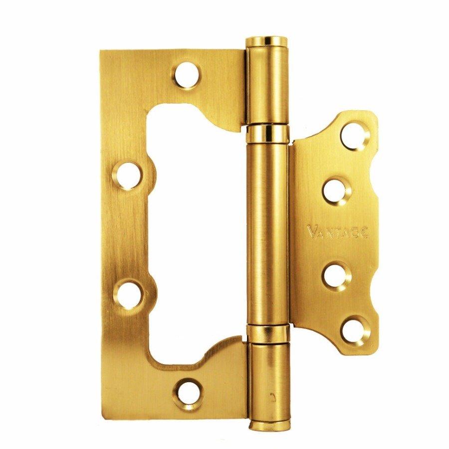 Петля дверная (бабочка)Vantage 2BB-SB без врезки, мат. золото