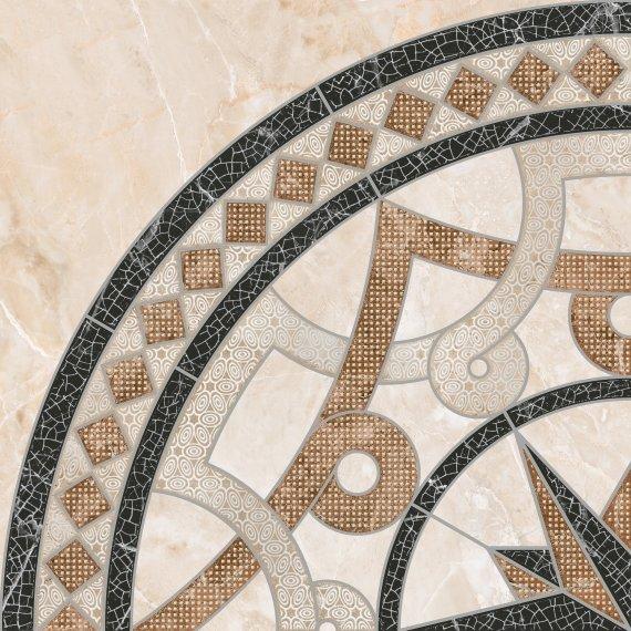 Керамическая плитка LB-Ceramics Темплар 6946-0101 Панно напольное коричневое (из 4х шт) 90х90